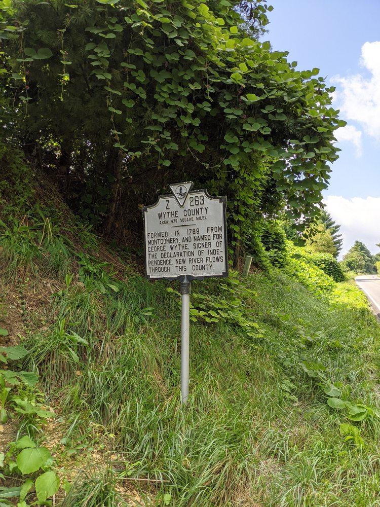 Pulaski and Wythe County Historical Marker: Wysor Rd & Stillwell Rd, Draper, VA