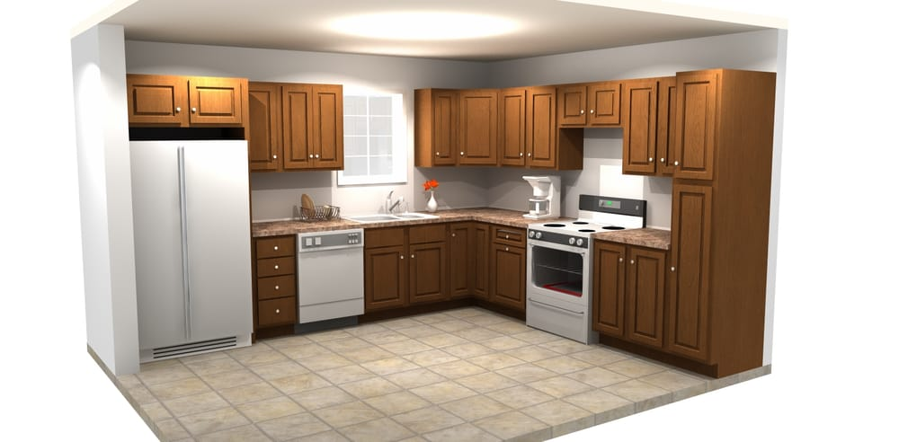 Digital rendering of a kitchen design yelp for Kitchen design yelp