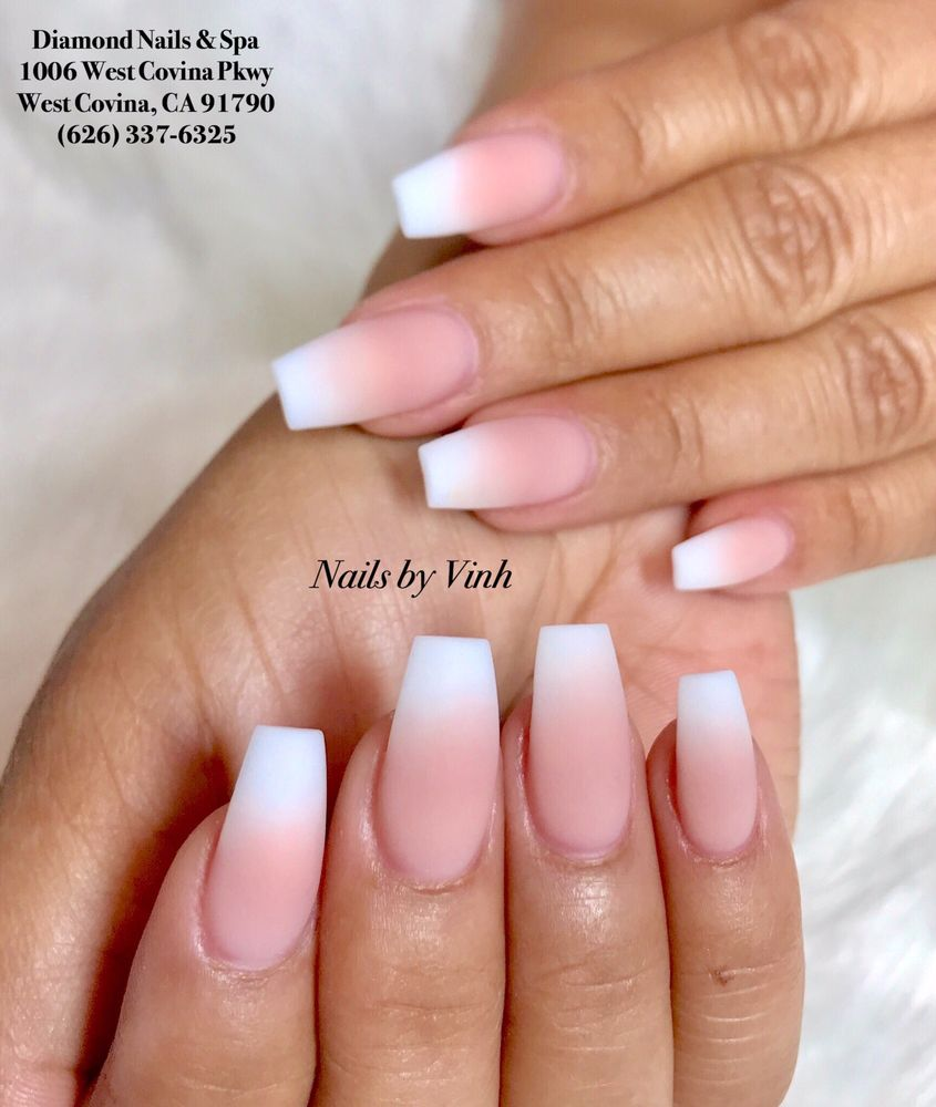 Matte ombré nails by Vinh. - Yelp