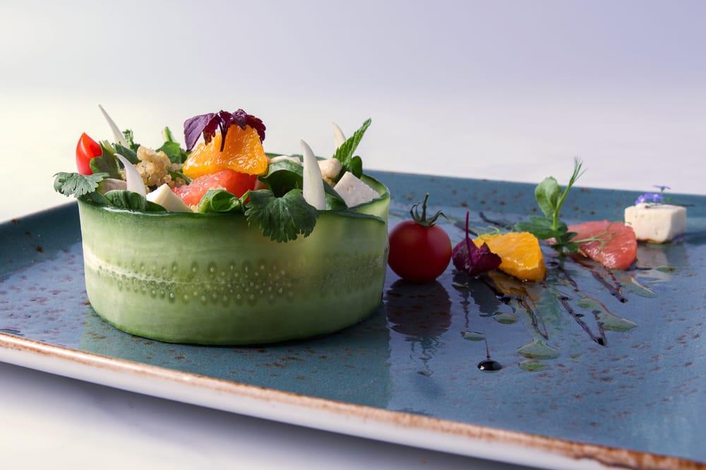 quinoa salat mit jakobsmuschel manon restaurant bar grill berlin mitte yelp. Black Bedroom Furniture Sets. Home Design Ideas