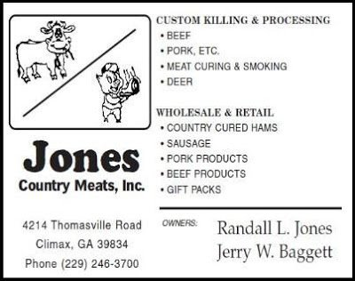 Jones Country Meats: 4214 Thomasville Rd, Climax, GA