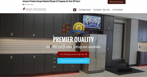Solutions Garage Cabinets Cabinetry 2550 E Rose Garden Ln