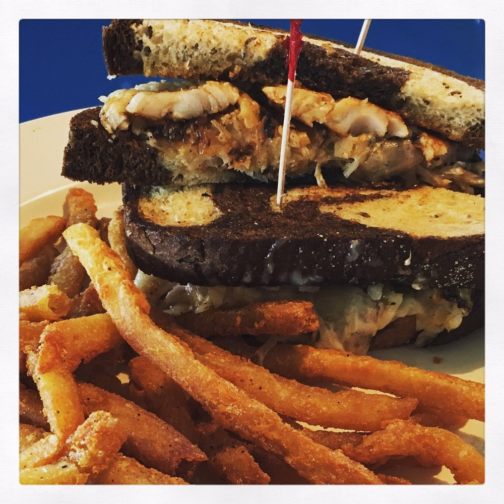 Grouper reuben with s p fries yelp for Fish camp lake eustis