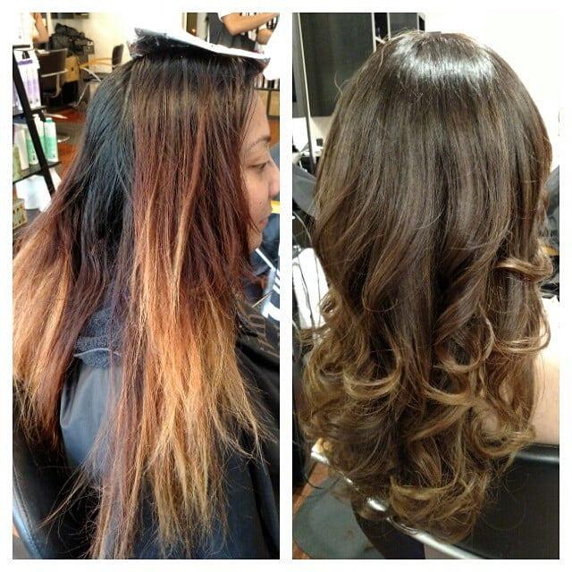 Client Unsuccessfully Attempted To Lighten Dark Haircolor