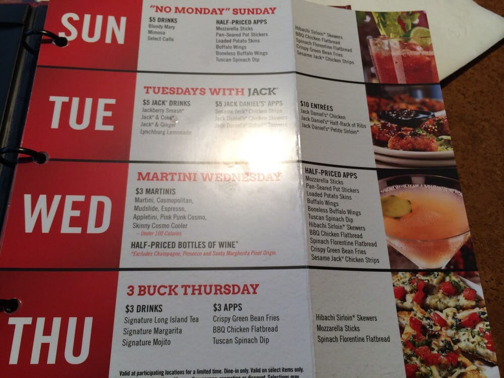 Tgi fridays thursday