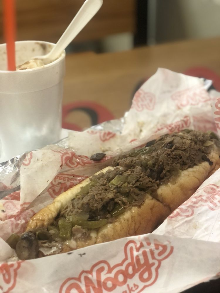 Food from Woody's CheeseSteaks