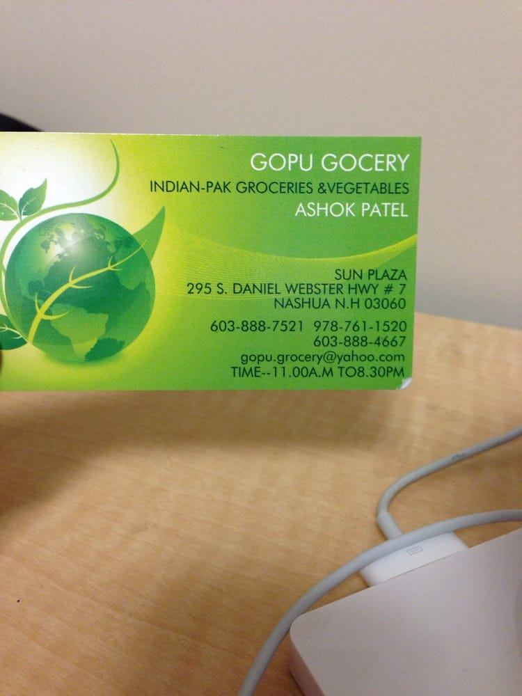 Gopu Grocery: 295 Daniel Webster Hwy, Nashua, NH