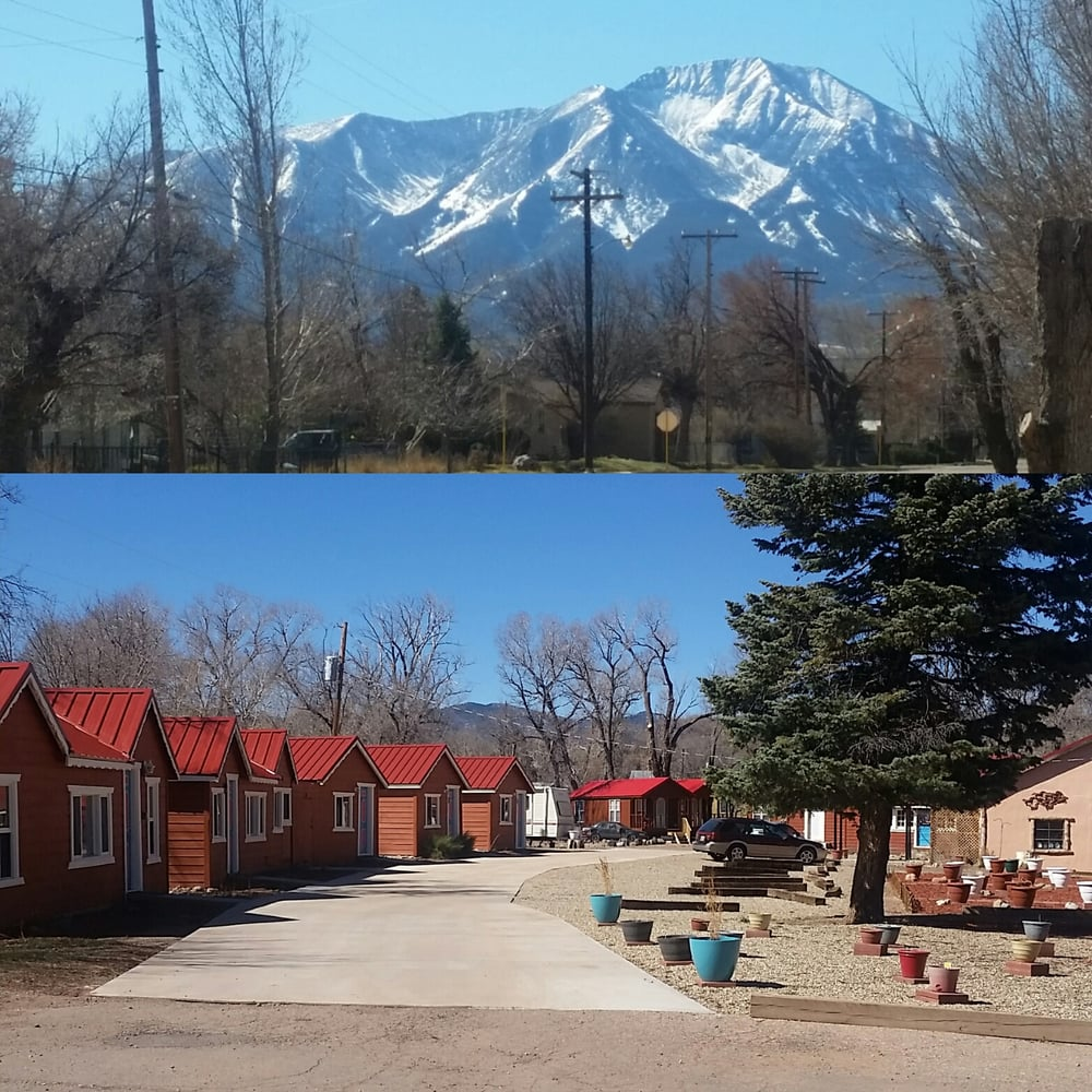 A View FROM The Cabins && A View OF The Cabins.