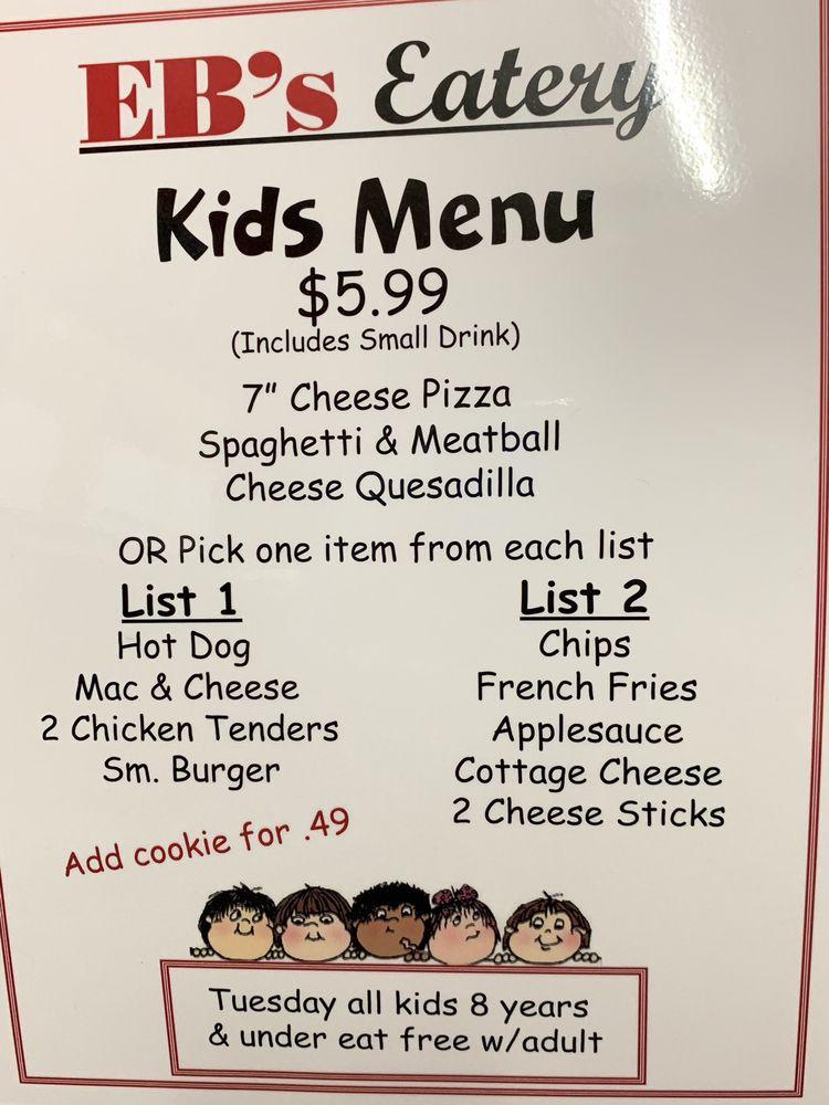 Eb's Eatery: 3 E Main St, Allegany, NY
