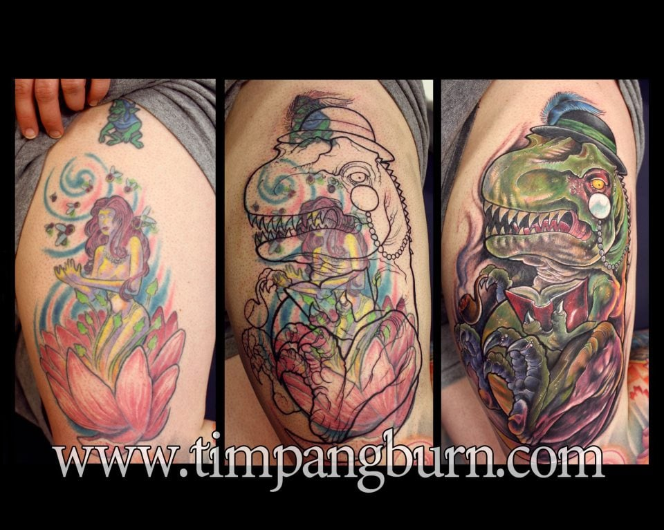 Coverup tattoo by tim pangburn yelp for Art machine productions tattoo