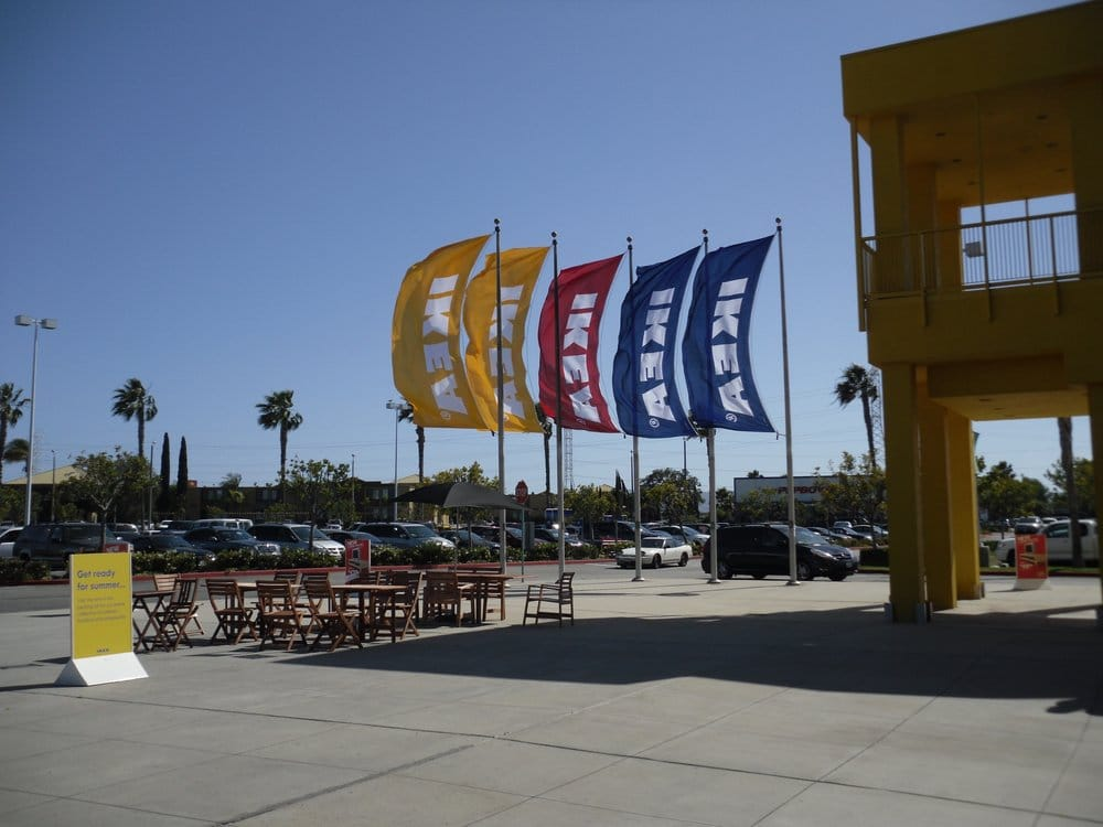 Ikea flags at the front of the store yelp for Ikea carson jobs