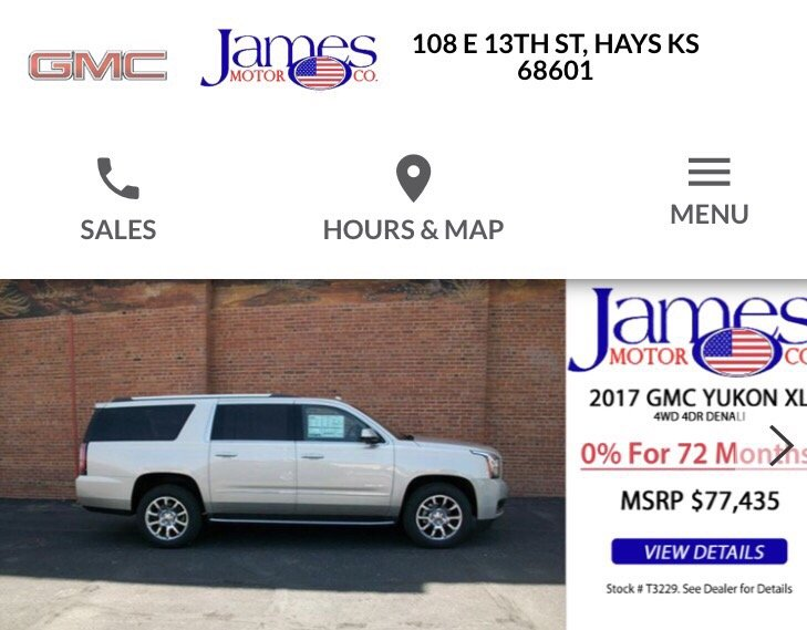 James Motor: 108 E 13th St, Hays, KS