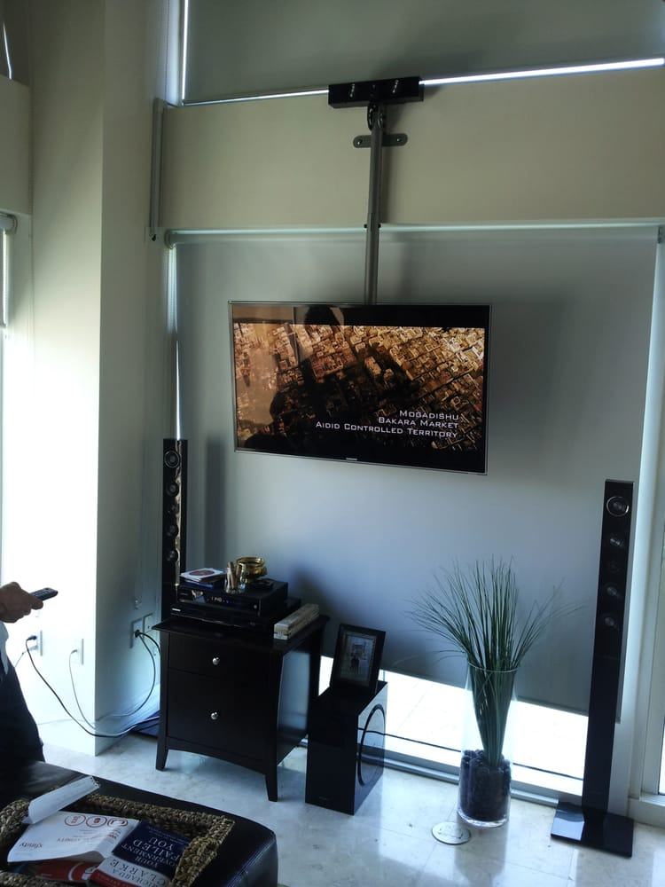 ceiling mount we did the tv installation and the surround sound setup for this customer yelp. Black Bedroom Furniture Sets. Home Design Ideas
