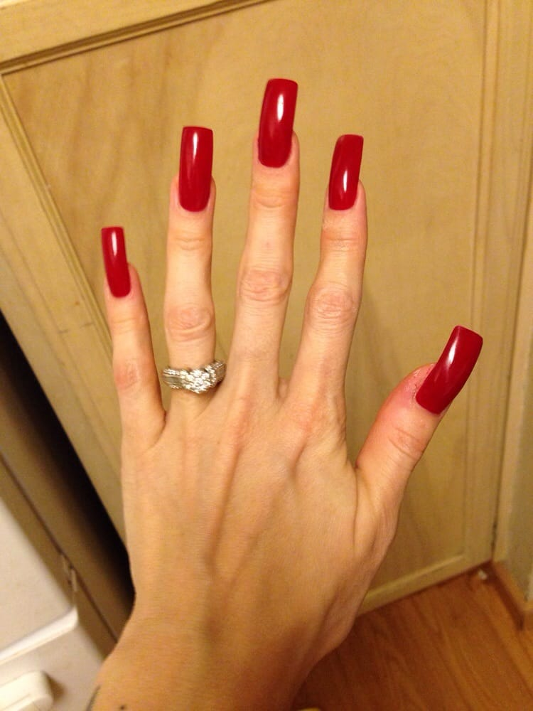 georgeous perfectly square extremely long billion dollar red acrylic ...