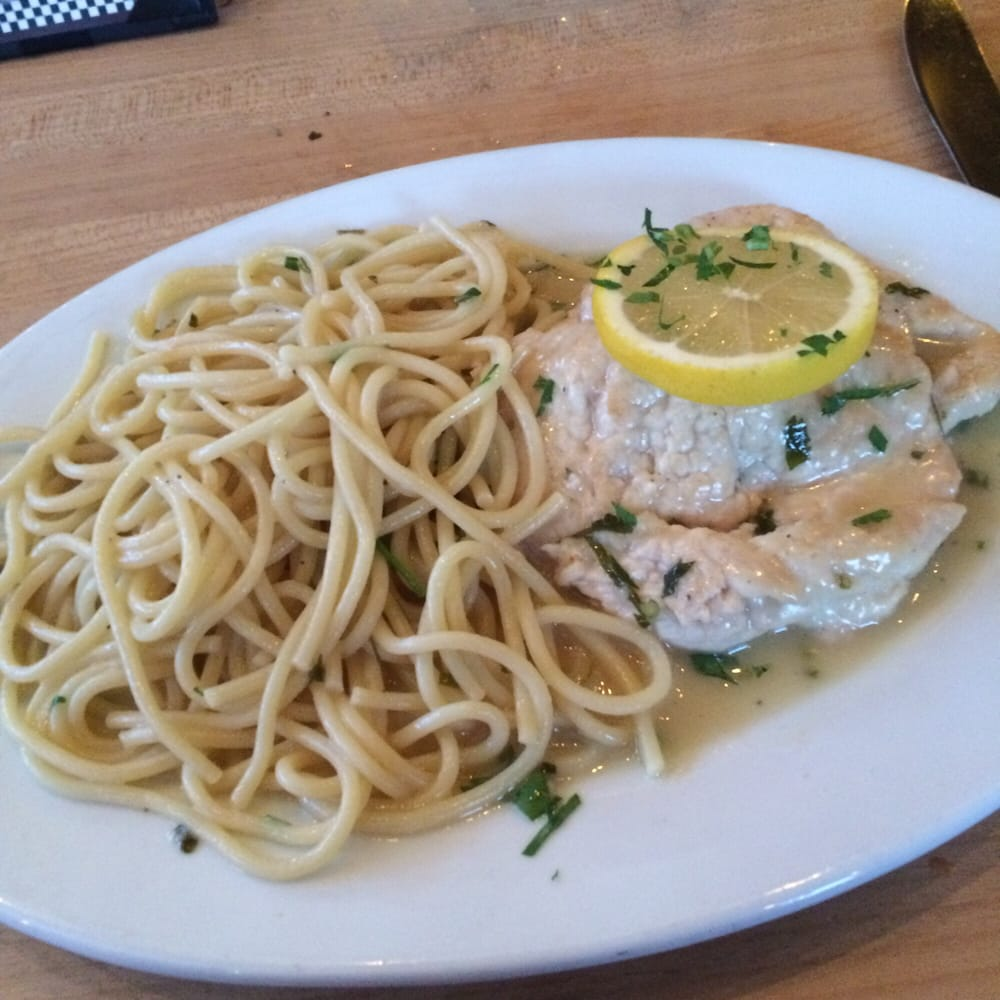 Chicken Piccata Sans Capers Half Entree Size Yelp