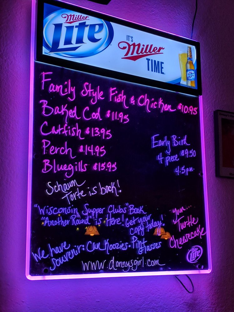 Donny's Girl Supper Club: N8240 Cr E, Watertown, WI