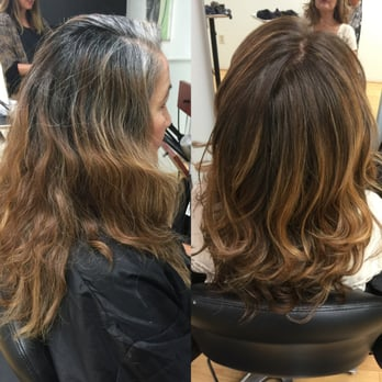 Resistant White And Gray Hair Coverage Mixed With Natural