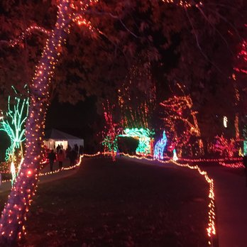 photo of holiday lights at calm bakersfield ca united states - Bakersfield Christmas Town