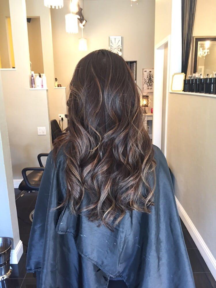 Balayage Highlights With A Dark Ash Brown Hair Color Yelp