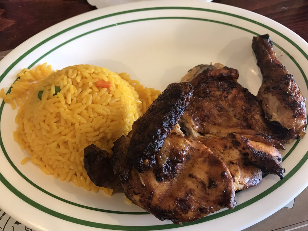 1/2 BBQ chicken with rice (and not pictured beans) - Yelp