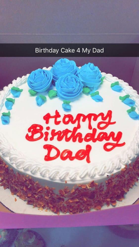 My Dad Birthday Cake Strawberry Cake Yummy Cant Wait Eat It