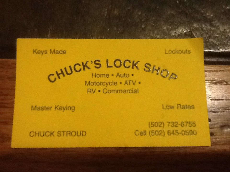 Chuck's Lock Shop - Keys & Locksmiths - Carrollton, KY - Phone
