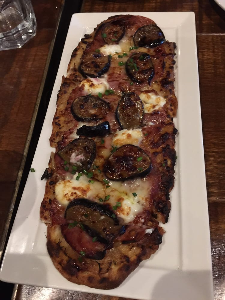 Fig caramelized onion goat cheese and rosemary flatbread for 13 american table boca raton
