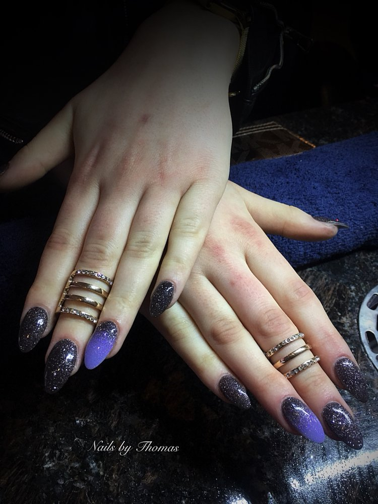 ANC Gel Dip ! All natural products! Ombré nails! All by hand! All ...