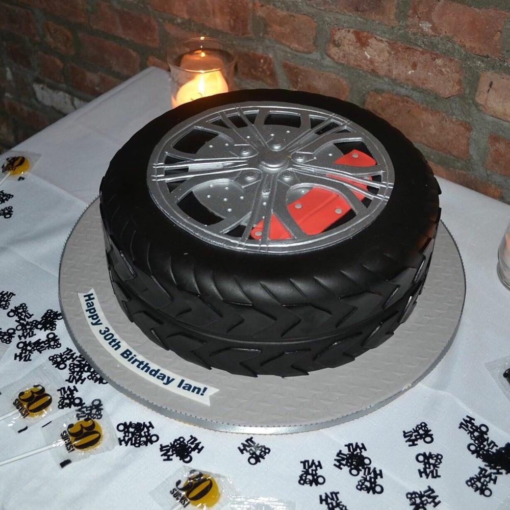 Audi Tire Cake