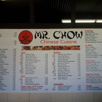 Mr Chow Restaurant Menu