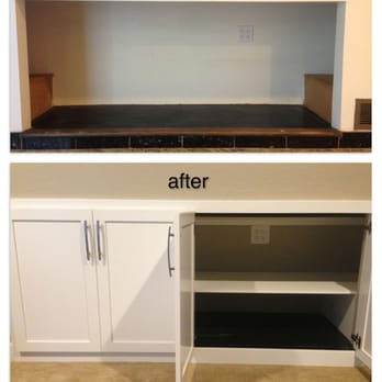 Photo of Caliber Cabinets - Hayward, CA, United States. Before and after picture