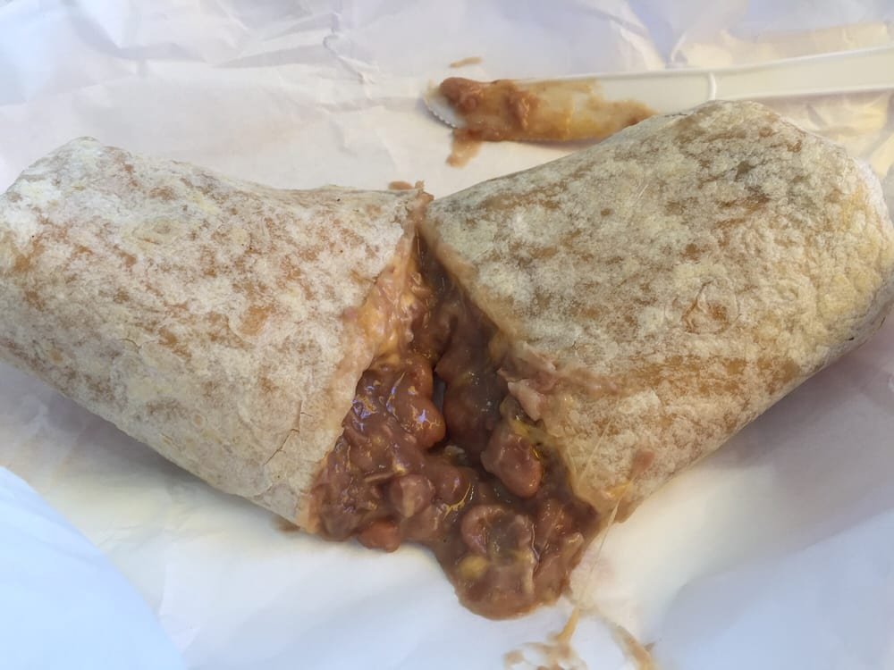 Bean and cheese burrito - Yelp