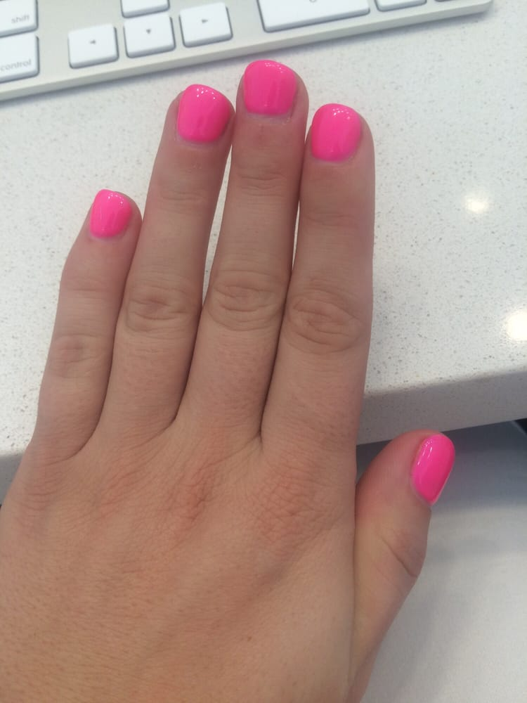 Gel overlay. Filed nails a little too short and gel is a little too ...
