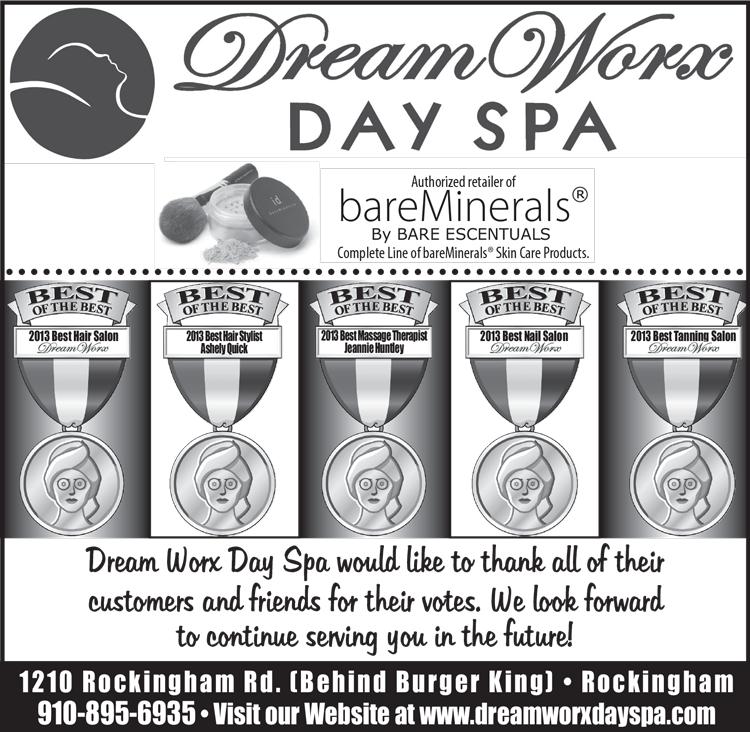 Dreamworx Day Spa: 1210 Rockingham Rd, Rockingham, NC