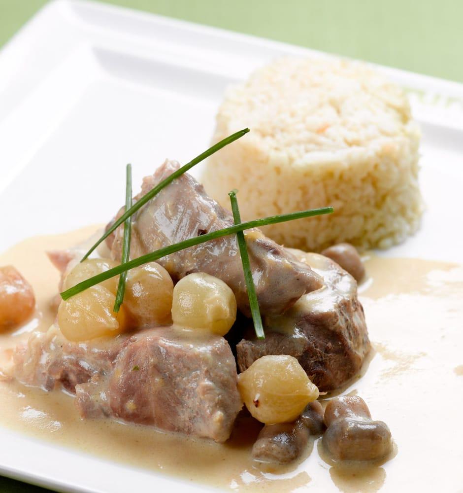 Blanquette de veau l 39 ancienne riz pilaf et petits - Cuisine blanquette de veau a l ancienne ...