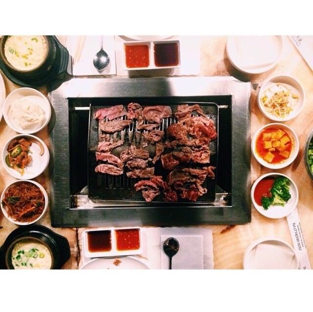Bulgogi brisket egg pot and sides yelp for Korean restaurant garden grove