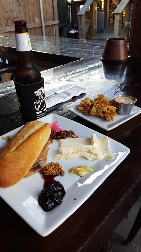 Happy Hour On The Patio Bar 10 Meat Cheese Plate 4 Chicken Skin Cracklins 2 Domestic Beer