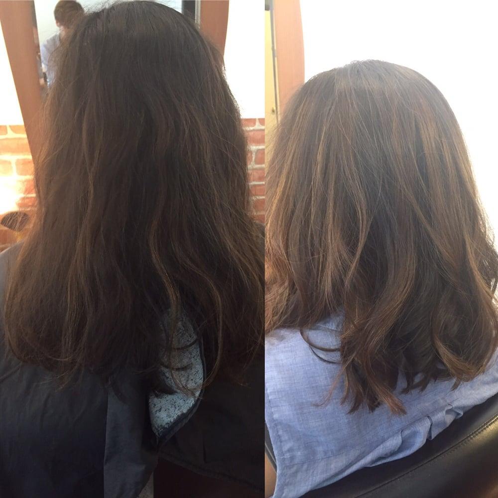 Balayage On My Naturally Black Hair With Soft Natural Brown Balayage