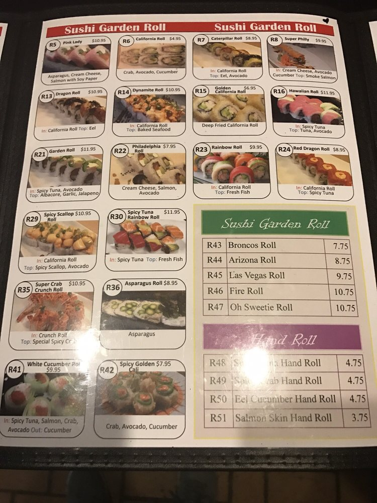 Online Menu Of Sushi Garden Restaurant Pueblo Colorado 81005