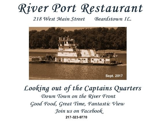 River Port Restaurant and Lounge: 218 W Main St, Beardstown, IL