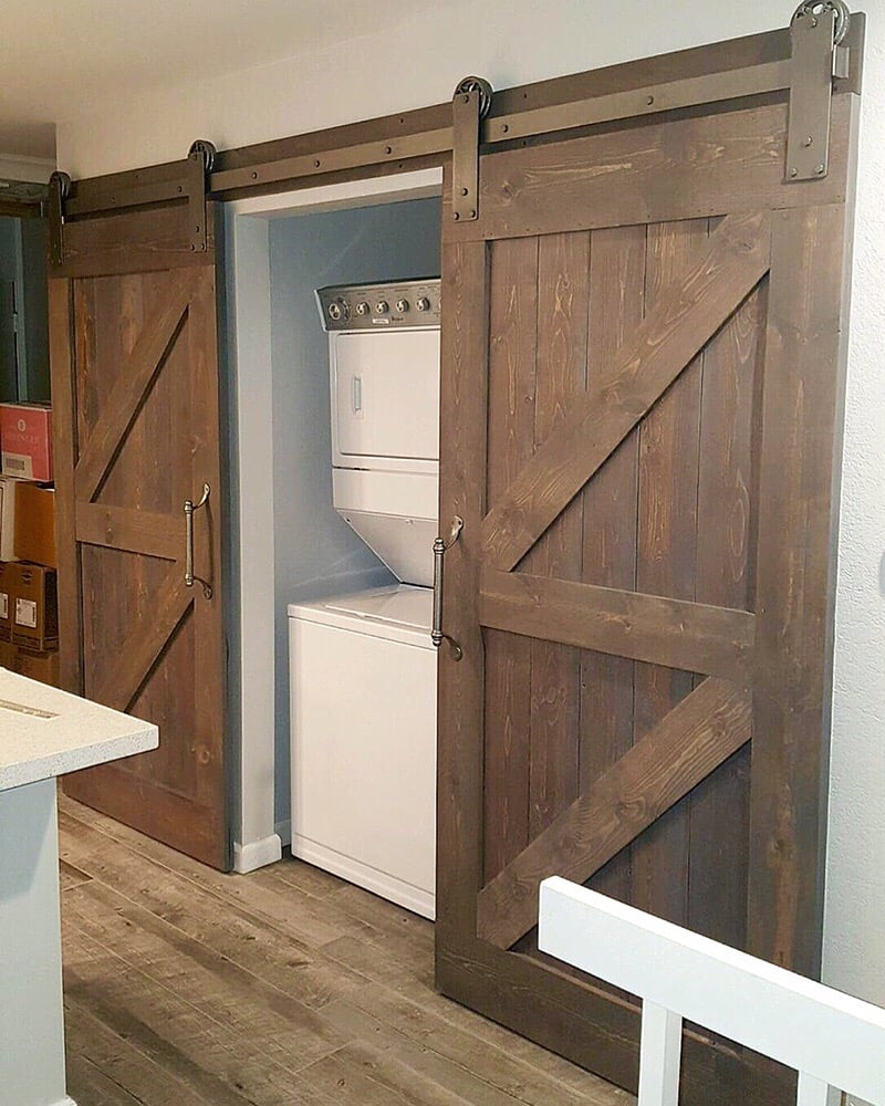 Double Z Barn Doors & Hardware for a laundry room. - Yelp