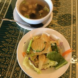 Photo Of Thai Restaurant Greenville Sc United States Complimentary Soup Or Salad