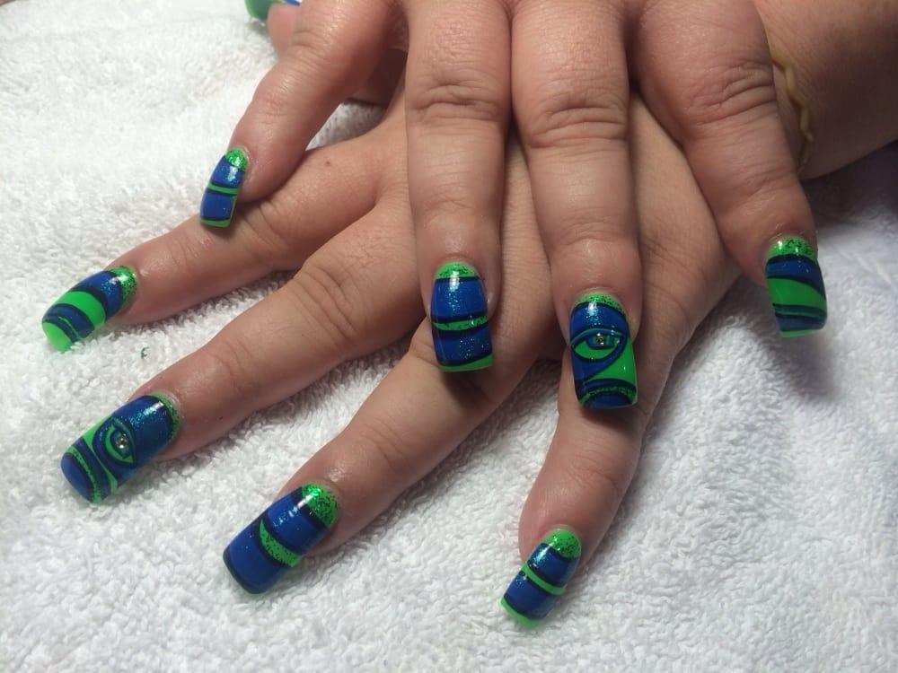 Seahawks Nails Design At Rio Nails And Spa Yelp