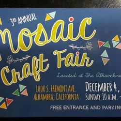 Mosaic Craft Fair - Festivals - 1000 S Fremont Ave, Alhambra