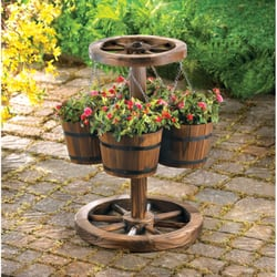 photo of gala home decor saskatoon sk canada wagon wheel planter
