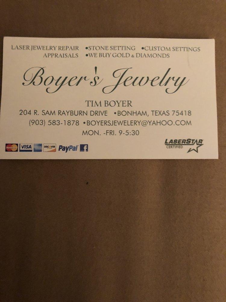 Boyer's Jewelry: 204 E Sam Rayburn Dr, Bonham, TX