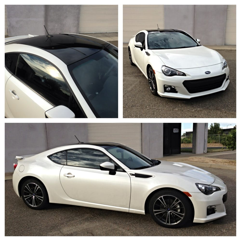 Subaru BRZ Tinted With Gloss Black Vinyl Roof And Side
