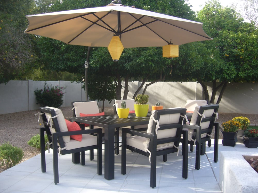 Slotted Outdoor Dining Table Elite Collection Chairs Yelp