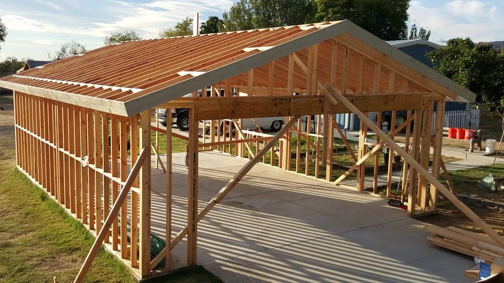 Framing of new garage. - Yelp