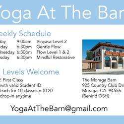 Yoga Beyond The Barn Closed Yoga 1605 School St Moraga Ca